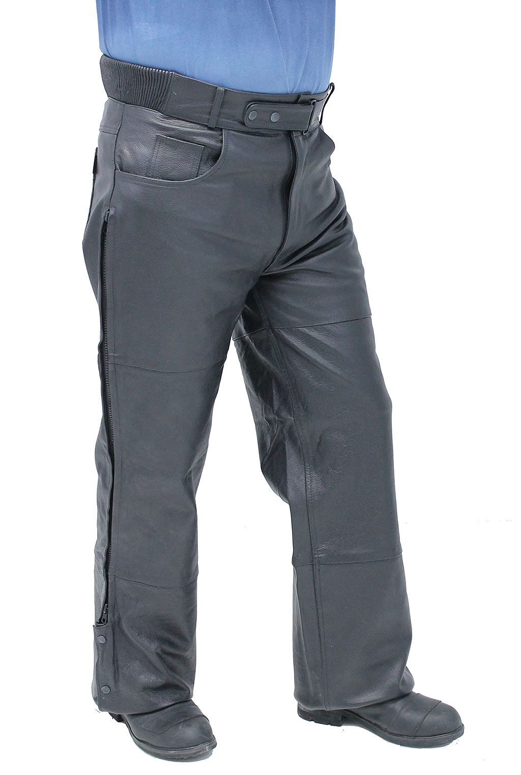 Premium quality leather motorcycle overpants.